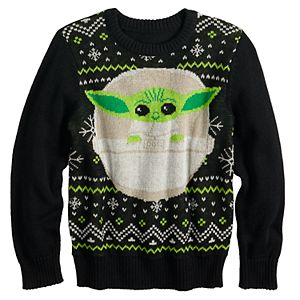 Boys 4-12 Jumping Beans® The Mandalorian The Child Knit Holiday Sweater