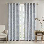 SunSmart Tinsley Printed Dobby Texture Total Blackout Grommet Top Window Curtain