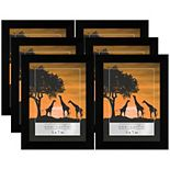 Americanflat 6-pack Picture Frame Set With Polished Plexiglass