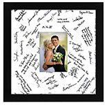 """Americanflat 14"""" x 14"""" Black Wedding Signature Picture Frame"""