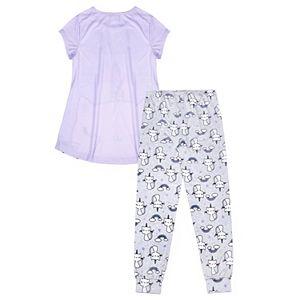 Girls 4-16 Jellifish Top & Pants Pajama Set