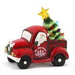 Mr. Christmas Lit Ceramic Vehicle Red Truck Table Decor