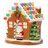 Mr. Christmas Light-Up Small Gingerbread House Table Decor