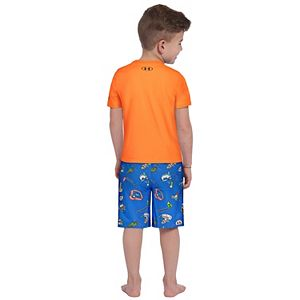 Toddler Boy Under Armour Shark Pool Party Tee & Shorts Set