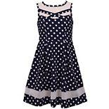 Girls 7-16 Bonnie Jean Illusion Neckline Skater Dress