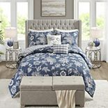 Madison Park Cassidy 6-Piece Comforter Set with Coordinating Pillows