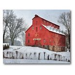 COURTSIDE MARKET Snow at the Farm Canvas Wall Art