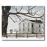 COURTSIDE MARKET A Little Snow House Canvas Wall Art