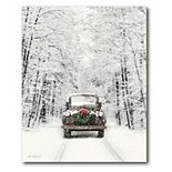 COURTSIDE MARKET Merry Christmas Truck Canvas Wall Art