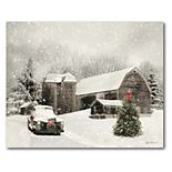 COURTSIDE MARKET Farmhouse Christmas Canvas Wall Art