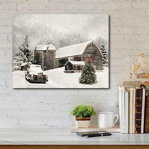 COURTSIDE MARKET Farmhouse Christmas Canvas Wall Art