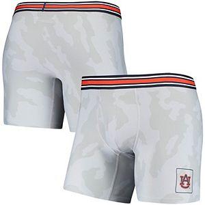 Men's Under Armour Gray Auburn Tigers Boxer Briefs