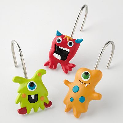 Jumping Beans 12-pk. Monster Shower Curtain Hooks
