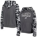 Youth Colosseum Charcoal Alabama Crimson Tide OHT Military Appreciation Digital Camo Raglan Pullover Hoodie