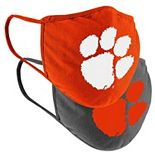 Colosseum Clemson Tigers Youth Face Covering 2-Pack