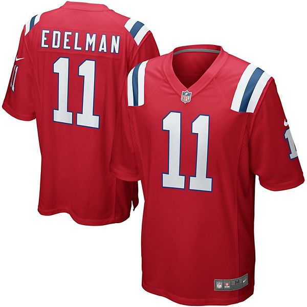 Youth Nike Julian Edelman Red New England Patriots Alternate ...