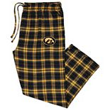 Men's Concepts Sport Black/Gold Iowa Hawkeyes Big & Tall Parkway Flannel Pants