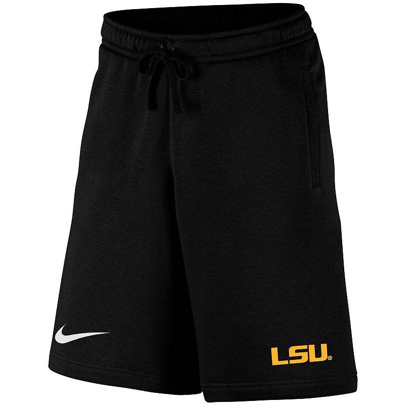 Men's Nike Black LSU Tigers College Primary Logo Club Fleece Shorts. Size: Small