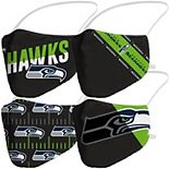 Adult Fanatics Branded Seattle Seahawks Variety Face Covering 4-Pack