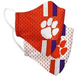 Adult Colosseum Clemson Tigers Woven Face Covering 2-Pack