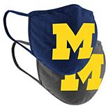 Colosseum Michigan Wolverines Youth Face Covering 2-Pack