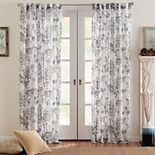 Corona Curtain Eastman Printed Back Tab Window Curtain