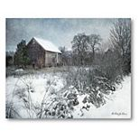 COURTSIDE MARKET Winter Snow Canvas Wall Art