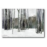 COURTSIDE MARKET Winter Forest Canvas Wall Art
