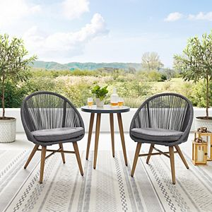 Linon Townsend Bistro Table & Chairs 3-piece Set