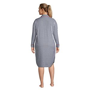 Plus Size Lands' End Flannel Sleepshirt