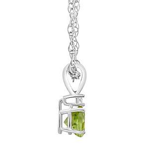 14k Gold Peridot & Diamond Accent Pendant Necklace