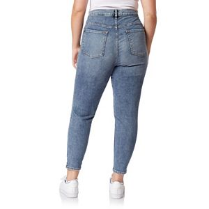 Juniors' WallFlower Insta Vintage Plus Fearless Curvy High Rise Ankle Jeans