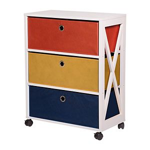 Kids The Big One Fun 3-Drawer Storage Cabinet