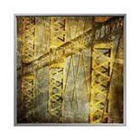 PTM Images Golden Beams Framed Canvas Wall Art
