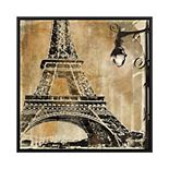 PTM Images View to the Tower Eiffel Framed Canvas Wall Art