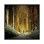 PTM Images Path in the Woods Framed Canvas Wall Art
