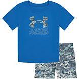 Baby Boy Under Armour Camo Tee & Shorts Set