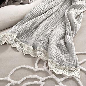 Peri Gauze Crochet Throw