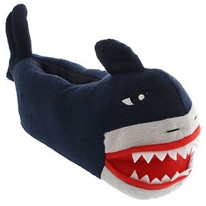 Boys 4-20 Hungry Shark Stuffed Moccasins