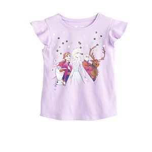 Disney's Frozen Toddler Girl Flutter Sleeve Tee by Jumping Beans®
