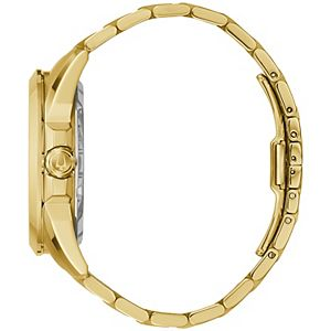 Men's Bulova Gold-Tone Automatic Skeleton Watch - 97A162