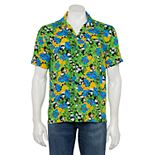 Men's Mickey Mouse Button-Down Hawaiian Shirt