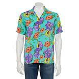 Men's SpongeBob SquarePants Hawaiian Button-Down Shirt