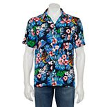 Men's Iron Man Hawaiian Button-Down Shirt