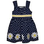 Girls 4-6x Blueberi Boulevard Polka-Dot Daisy Dress