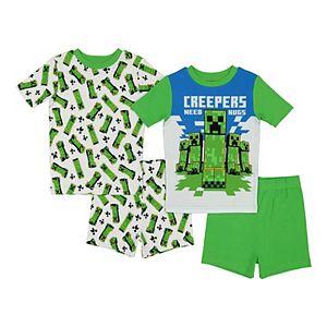 Boys 6-12 Minecraft Creeper Tops & Shorts Pajama Set