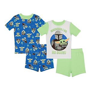 Boys 6-12 The Mandalorian The Child aka Baby Yoda Small but Strong Tops & Shorts Pajama Set
