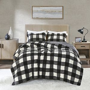True North by Sleep Philosophy Brooks Print Sherpa Down-Alternative Comforter Set