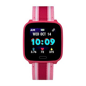 iConnect by Timex Kids' Active Striped Fabric Band Smart Watch - TW5M41000SO
