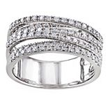 Stella Grace Sterling Silver 1/2 Carat T.W. Diamond Crossover Ring